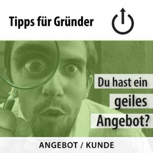 Geiles Angebot –Gründertipp vom 03.09.2020