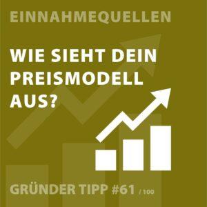 Gründertipp: Wie sieht Dein Preismodell aus