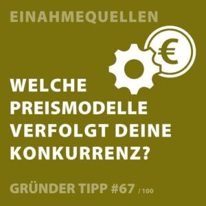Gründertipp: Preismodelle