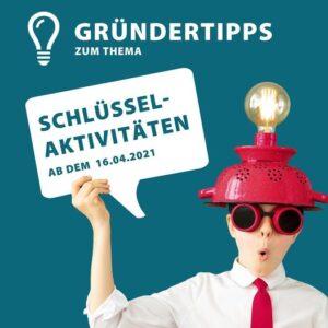 """Teaser Gründertipps """"Schlüsselaktivitäten"""""""